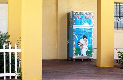 Artwork for this Community Fridge is by Sydney Maubert