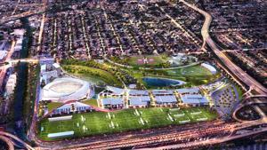 Rendering of David Beckham's soccer stadium in Miami Dade.