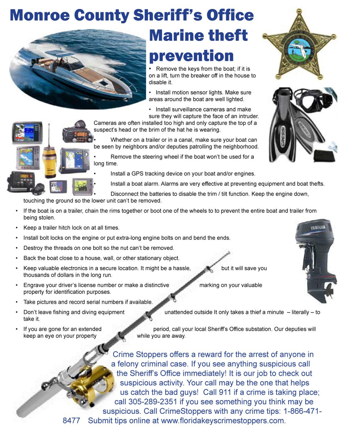 Protect yourself from marine theft
