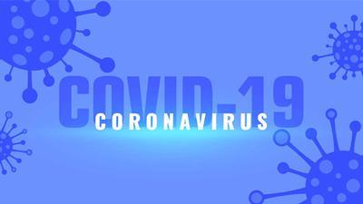 coronavirus covid-19 outbreak pandemic background with viruses