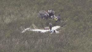 One of the planes which crashed into alligator- infested waters of the Everglades in far South West Miami-Dade