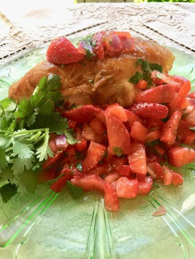 Strawberry Salsa Grilled Chicken