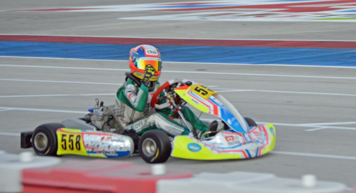 Sebastian Montoya on the track at Homestead-Miami Speedway.