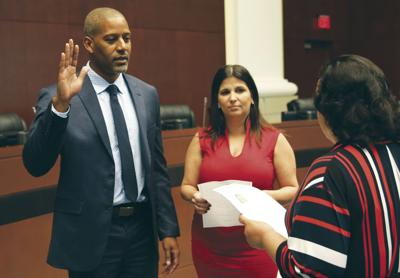 On the evening of February 21st, Homestead welcomed Councilman Julio Guzman to the City Council.  He took the Oath of Office administered by Homestead City Clerk Elizabeth Sewell.