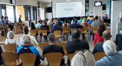A large crowd turned out for an FDOT hearing at Homestead-Miami Speedway's Champions Club on Tuesday, July 20th.