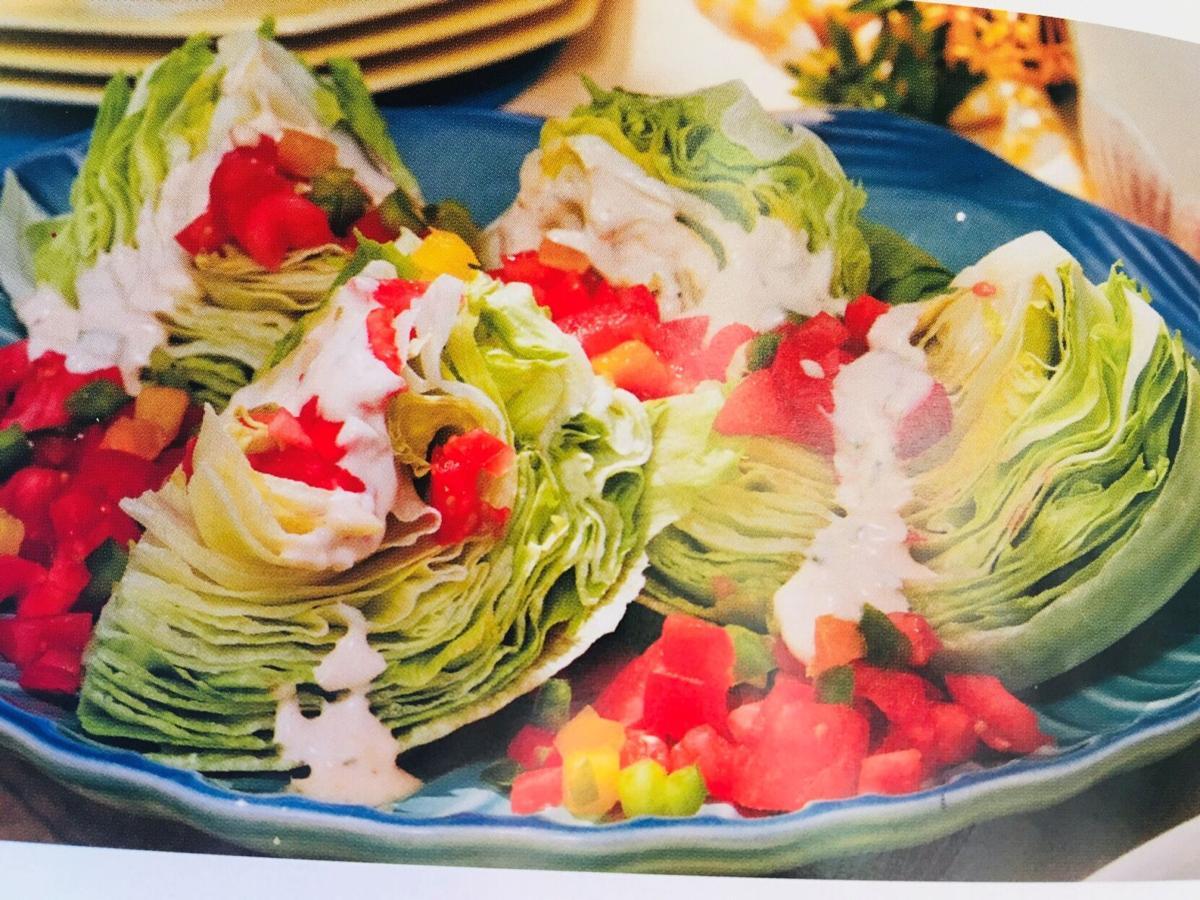 Wedge Salad with Zesty Honey Salad Dressing