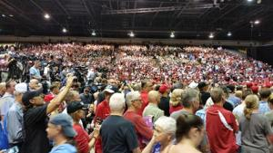The Florida State Fairgrounds Expo Hall was packed for a rally with President Trump on July 31st.