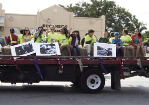 Youth honor MLK with their float in the Florida City parade.