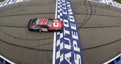 Alex Bowman took the checkered flag last weekend at the Auto Club Speedway.