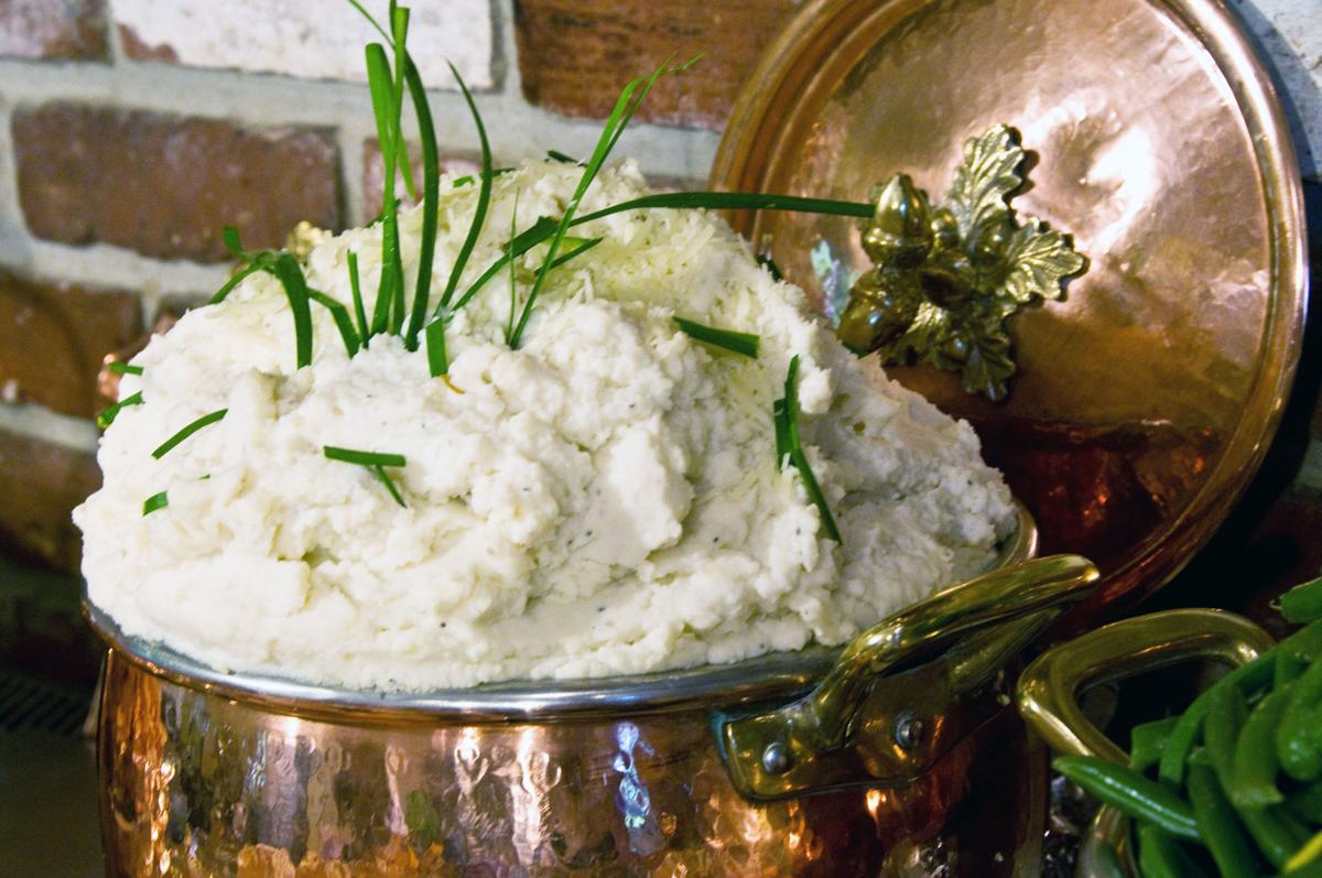 Mashed Potatoes with Chives and Parmesan Cheese