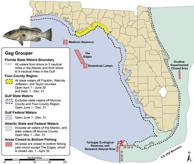 Gag Grouper Water Boundaries
