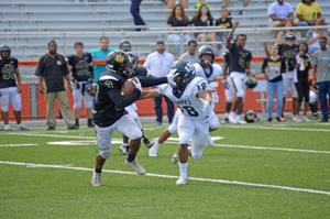 Kavon Holmes rushed for 37 yards on seven carries