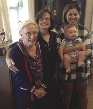 Photo, from left: Four generations celebrating at the Pioneer Museum in Florida City.  George Alma Rouse celebrating her birthday wtih her daughter Melony Simmons, granddaughter Kaitlin Buckhalt and great grandson Luke Buckhalt.