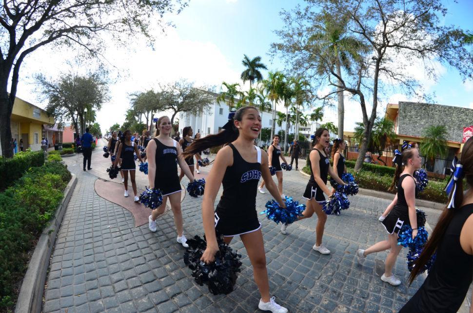 South Dade Championship Parade Cheerleaders