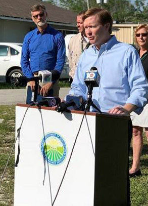 Agriculture Commissioner Adam Putnam announcing the findings at a press conference on June 5.