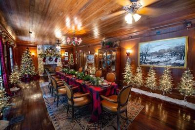 Beautiful Christmas decor at the Deering Estate