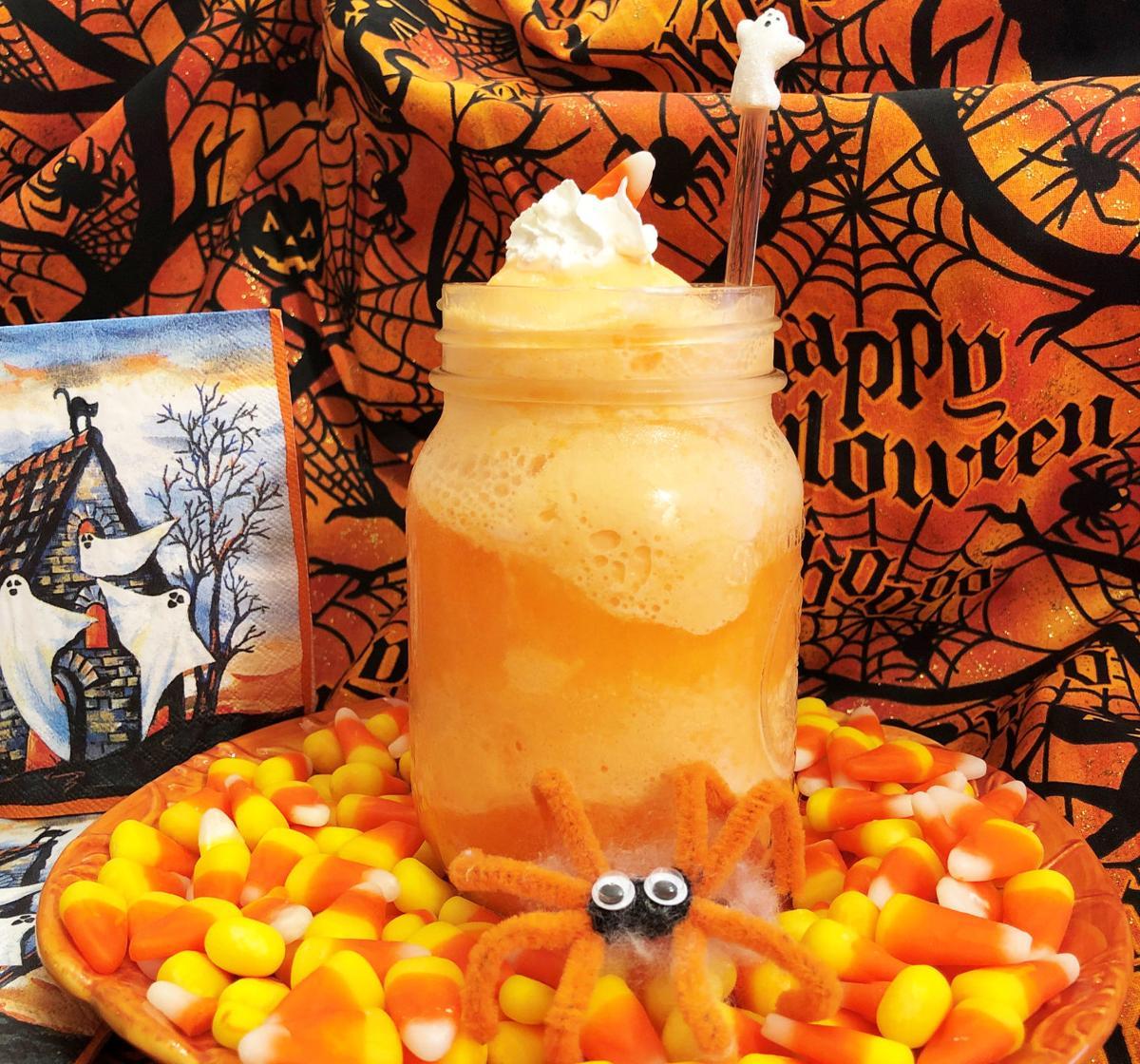 Halloween Orange Sherbert Floats