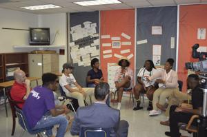 A My Miami Story conversation at Homestead High.