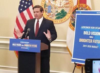 Gov. Ron DeSantis presents Florida's 2019-2020 budget upon it's  passage through the Legislature.