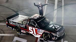 Kyle Busch winning the truck series last week