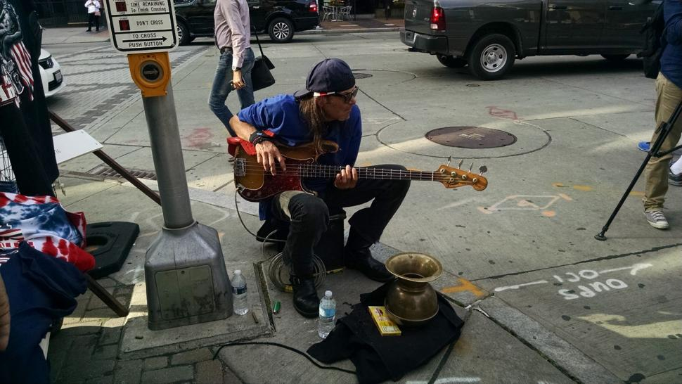 RNC Convention in Cleveland - Street performer