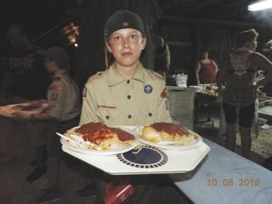 The scouts will help you to the table, AND bring you seconds if you want.