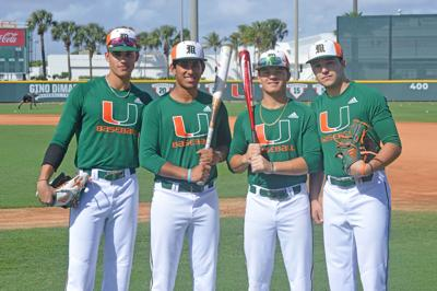 From left: Dylan Cloonan, Anthony Vilar, Tyler Paige, and Alex Ruiz