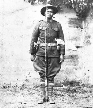 Private Robert Jenkins in France in WWI.  Served in Company D, 304th Labor Battalion, Quartermaster Corps.  Inducted Oct. 3, 1917.  Sailed for France Jan. 13, 1918, returned June 16, 1919 and discharged June 23 at Camp Gordon, Ga.  Born Jan. 3, 1895 and passed away Mar. 16, 1973 in Homestead.