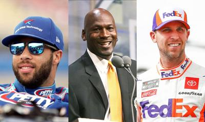 Michael Jordan and Denny Hamlin announce new cup series team for 2021, with Bubba Wallace as their driver.