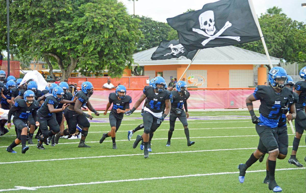 South Dade runs on the field, eager to begin their season.