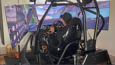 Denny Hamlin n the first race of the eNASCAR iRacing Pro Invitational Series on Sunday.