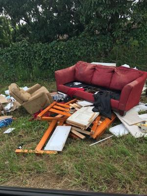 Dumping is prevelant anywhere you drive in the Redland.  Piles of furniture, tires, and trash have been dumped on  greenspace.