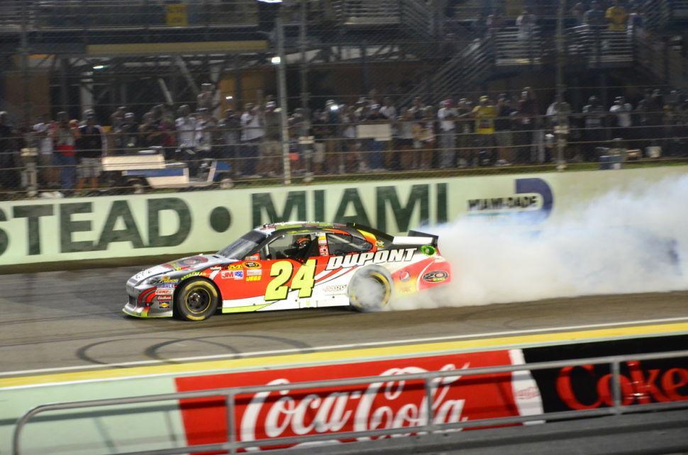 Ford 400 Jeff Gordon Burnout