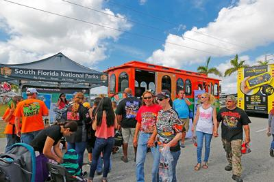 Race fans enjoy the free trolley rides to local national parks.