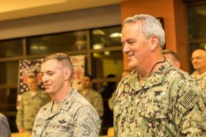 Colonel Guilbeault and Admiral Green appreciate the relationship between SOCSOUTH, MAC, and the community.