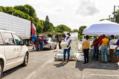 King Jesus Haitian Church Ministry's food distribution