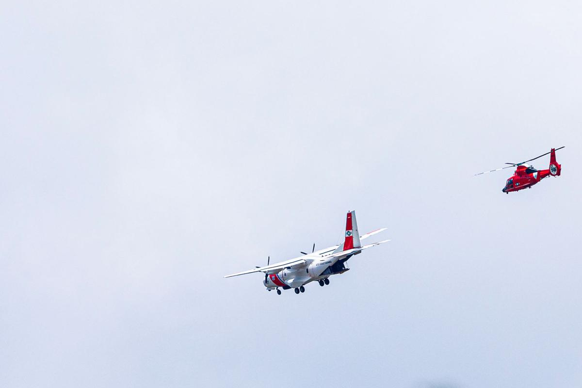 US Coast Guard H-65 Helicopter and C-144 Patrol Aircraft flew over 16 South Florida Hospitals including Homestead on  Saturday 23 May to salute Healthcare and other Essential Workers.