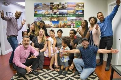 Local entrepreneurs celebrate their completion of the Accelerate South Dade program.