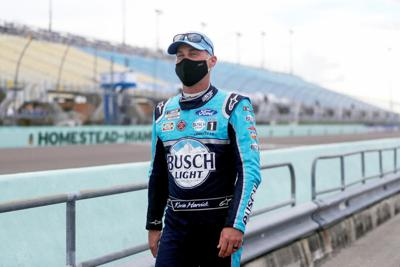 Kevin Harvick at Homestead-Miami Speedway.