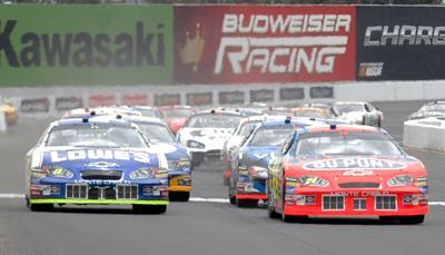 NASCAR racing at Sonoma Raceway
