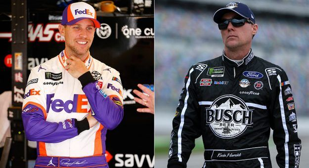 Denny Hamlin and Kevin Harvick