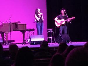 Katrina Wolverton with Jon MacLennan on stage at the Seminole