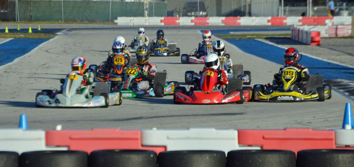 Karting at Homestead-Miami Speedway.