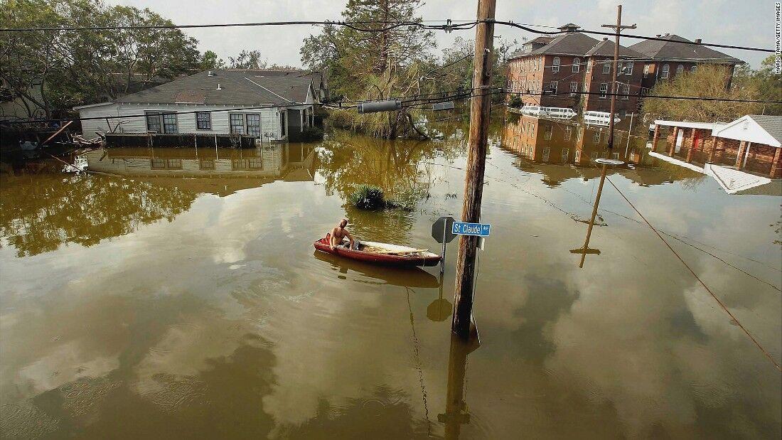 The ravages of Hurricane Katrina