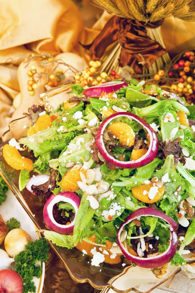 Green Grape and Mixed Field Green Salad