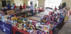 An abundance of gifts to bring a Happy Christmas to area children