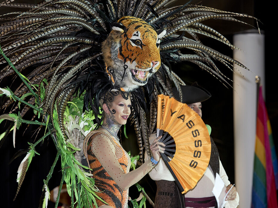 The Pet Masquerade (above) and the Headdress Ball (below are still scheduled to take place.