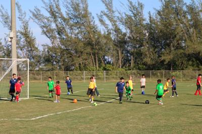 Players take to the field at the new AYSO fields in Homestead.