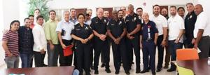 Pastors and leaders from area churches and ministries came together to bless and honor Homestead police  with a hot breakfast.