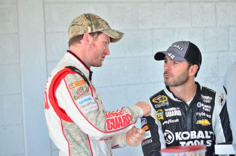 NASCAR Testing Johnson & Jr.